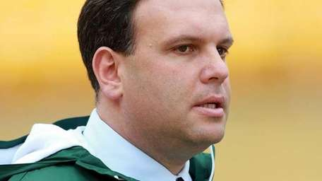 Jets GM Mike Tannenbaum is seen before a