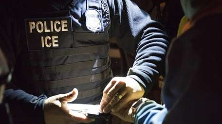An agent of the Immigration and Customs Enforcement