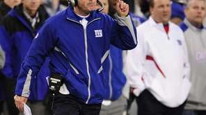 Giants coach Tom Coughlin spread the blame around