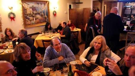Patrons dine at the Bella Notte North restaurant
