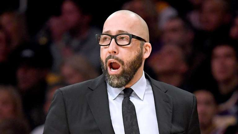 David Fizdale of the New York Knicks calls
