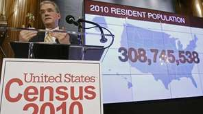 Census Bureau Director Robert Groves announces results Tuesday