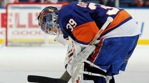 Islanders goaltender Rick DiPietro.
