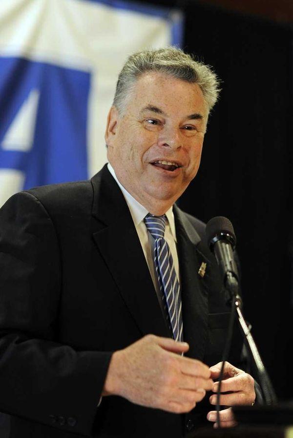 Congressman Peter King addresses the Long Island Association