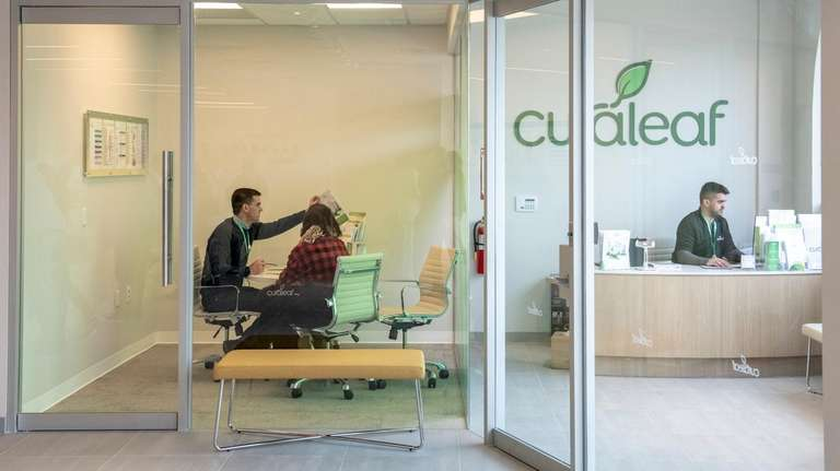 Inside the Curaleaf medical marijuana dispensary in Carle