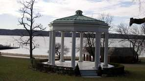 The gazebo in Morgan Park, which is at