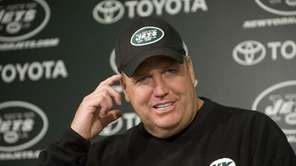 Jets head coach Rex Ryan was rarely at