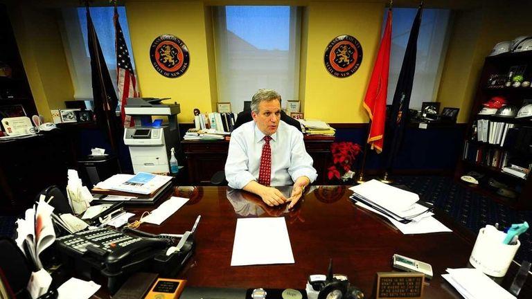 Nassau County Executive Edward Mangano on the job