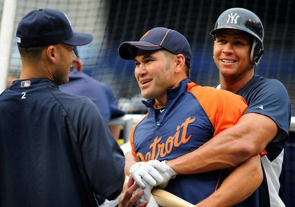 Derek Jeter, Johnny Damon and Alex Rodriguez won