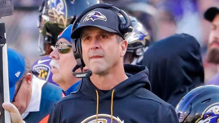 Ravens coach John Harbaugh said he considered replacing