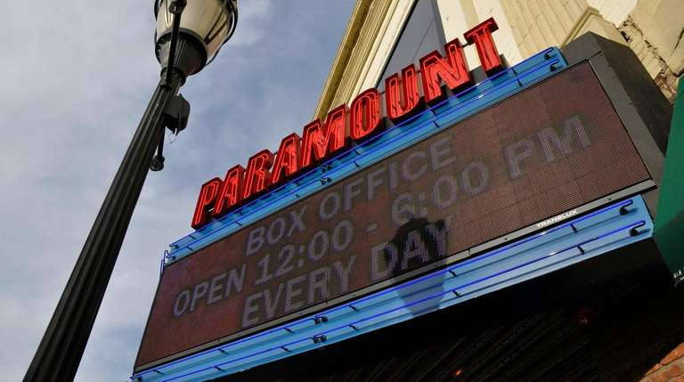 The marquee of the Paramount concert hall on