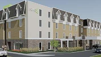 A rendering of a hotel planned in Farmingdale.