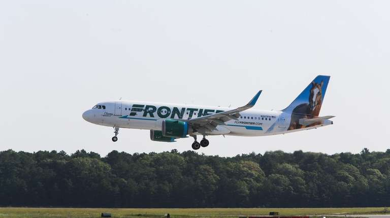 Frontier Airlines will start flying from MacArthur Airport