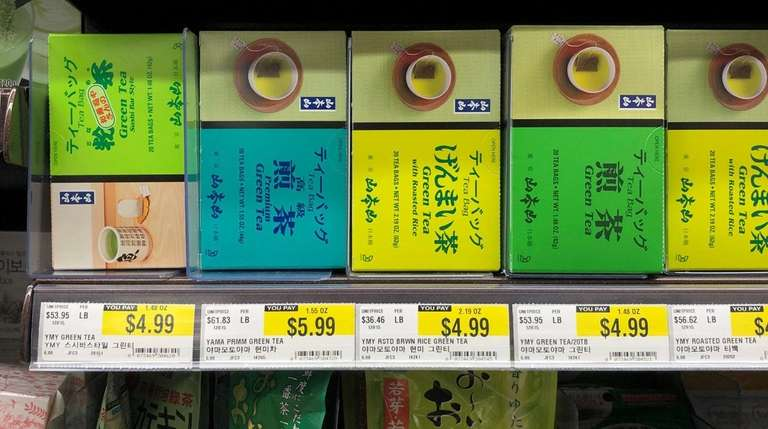 The tea aisle at H Mart in Jericho