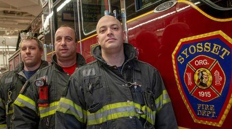From left, firefighter Josh Kerr, acting officer of