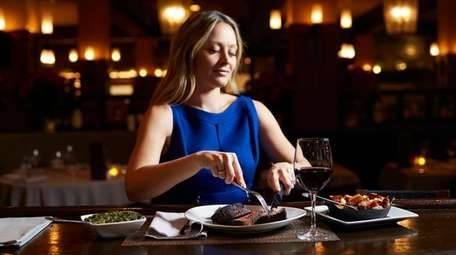 Sabrina Schwartz, of Lindenhurst, dines solo with the