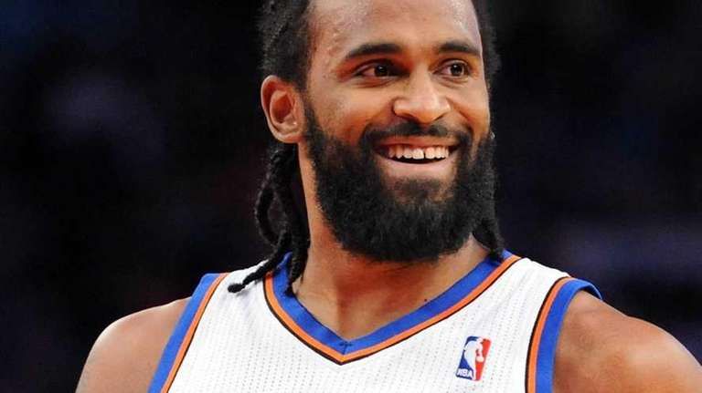Knicks forward Ronny Turiaf grins to the during