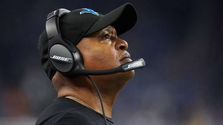 Detroit Lions head coach Jim Caldwell on the