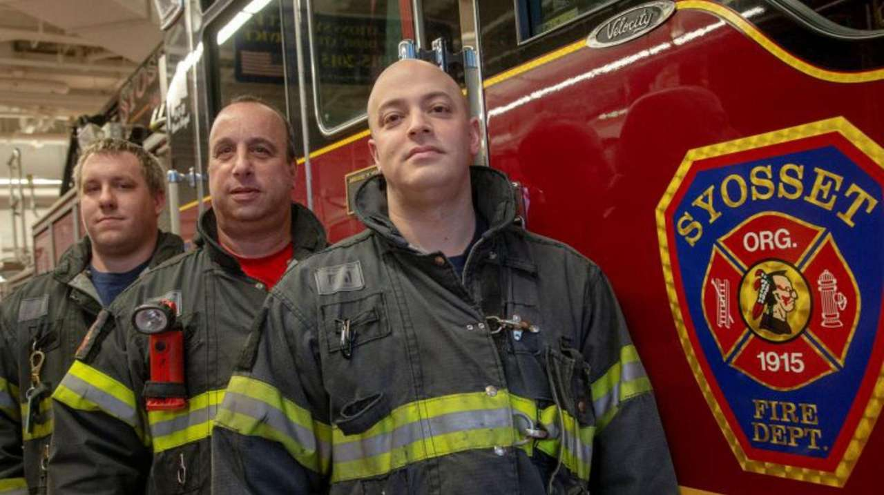 Syosset firefighters rescued a 71-year-old man Sunday afternoon,