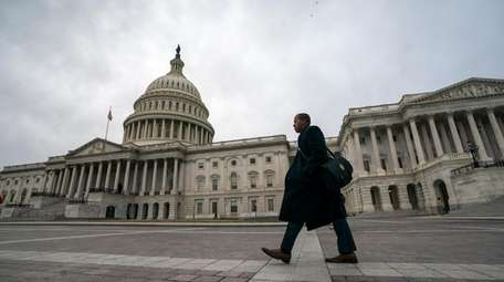 The Capitol is seen in Washington Monday as
