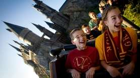 Guests at Universal Orlando's attraction The Wizarding World