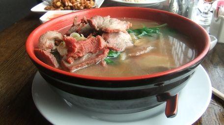 Roast pork noodle soup at Golden Temple, Syosset