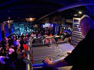 The view from the sound booth as Mystic