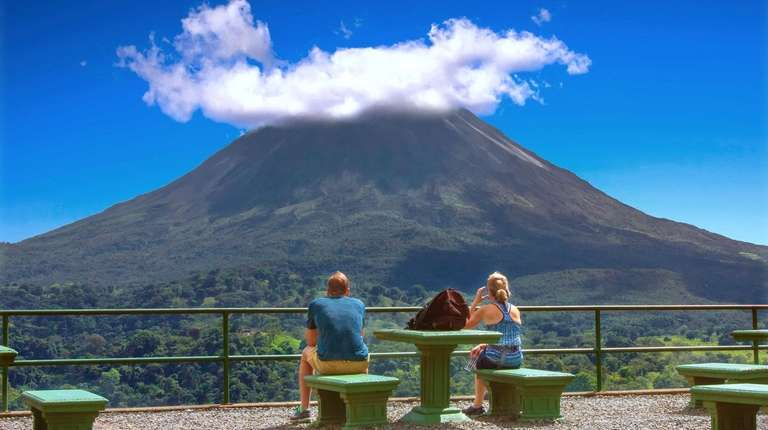 The active volcano at Arenal Volcano National Park