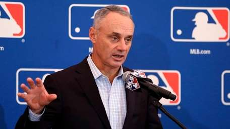 MLB commissioner Rob Manfred speaks at the annual