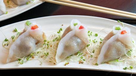Steamed BBQ eel dumplings at Saaho Village.