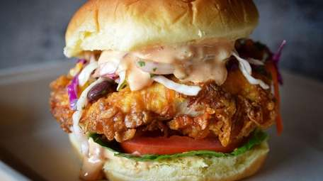 Fried chicken sandwich from Streats Food and Drink