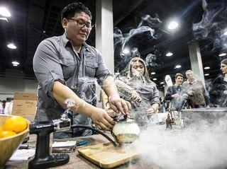 John Lu and Nikki Kim create a smoked