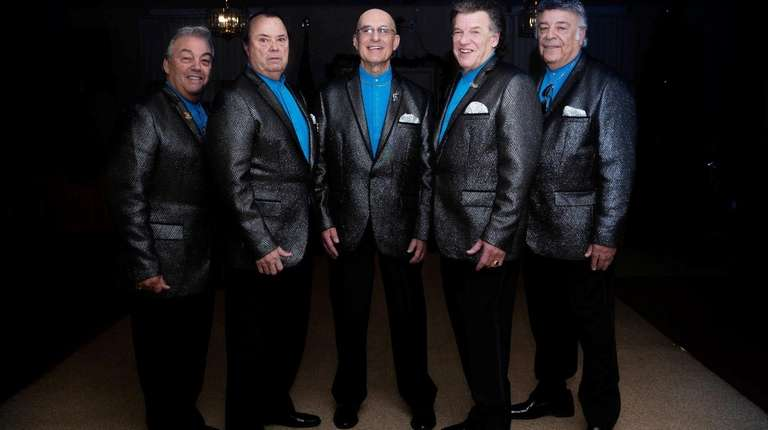 A cappella group The Tribunes pose for a