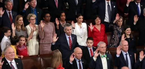 Members of the House of Representatives take their