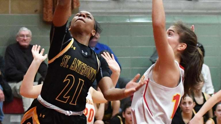 St. Anthony's Ashia Smith puts up a shot
