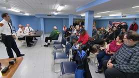 Dozens of Long Islanders turned out Tuesday to