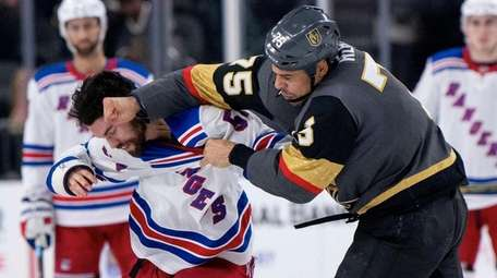 Golden Knights right wing Ryan Reaves and Rangers