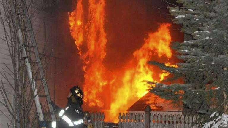 Multiple fire departments battled this Forester Lane house