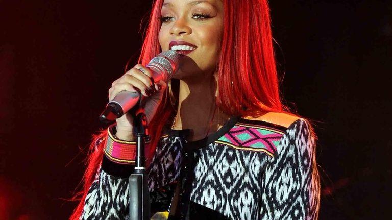 Singer Rihanna performs on MTV's