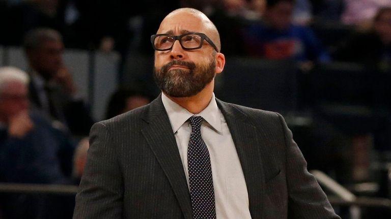 Knicks head coach David Fizdale looks on against