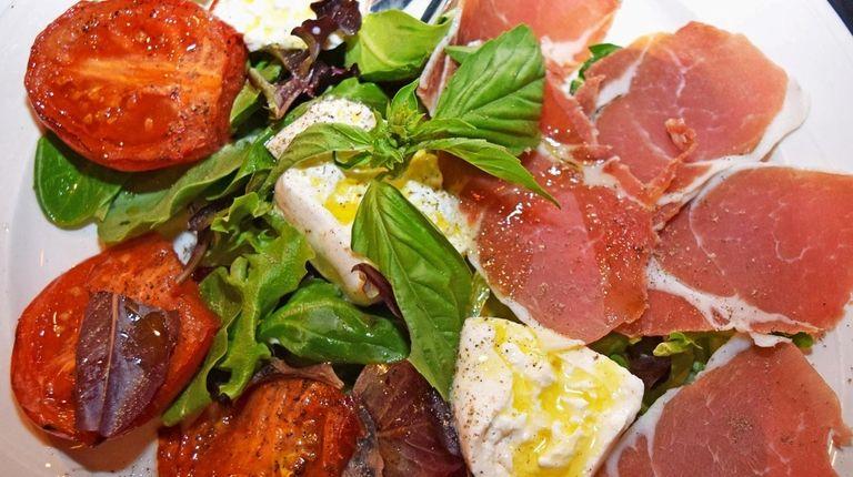 The burrata appetizer at Ravello Italian Ristorante, which