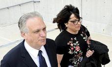 Edward and Linda Mangano are seen outside federal