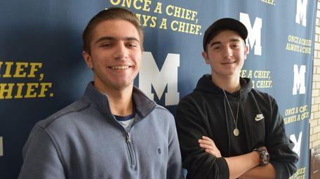 Thomas Lippolt, left, and Scott Rathjen, sophomores at