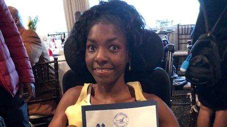 Taliyah Moore, a Riverhead High School sophomore, is