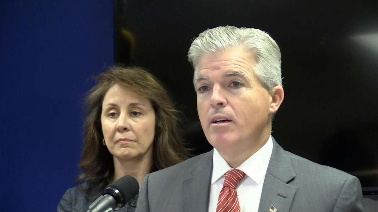 Suffolk County executive Steve Bellone and Suffolk County