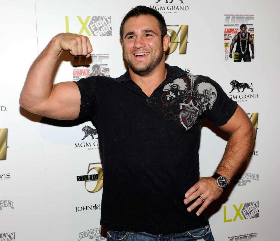 Mixed martial artist Phil Baroni arrives at the