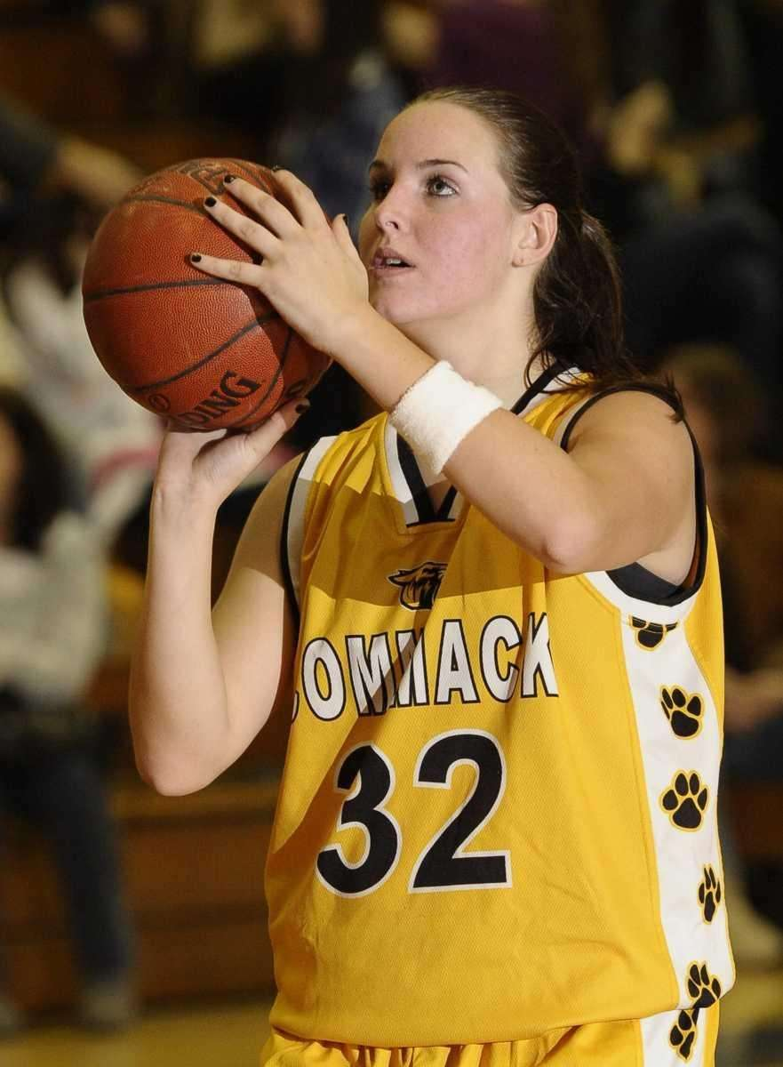 Commack's Shannon McQueeney looks to shoot against Glenn