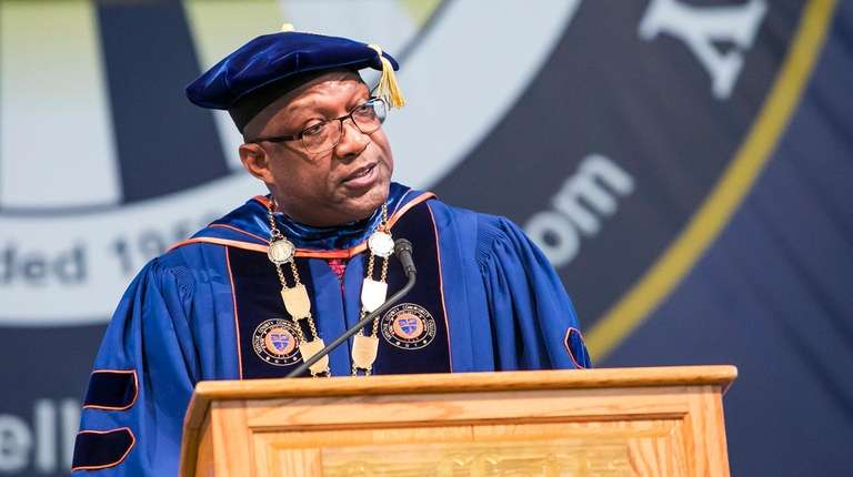 Shaun McKay, president of Suffolk County Community College,