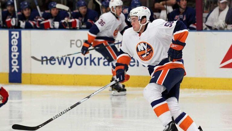 Jesse Joensuu of the Islanders skates against the