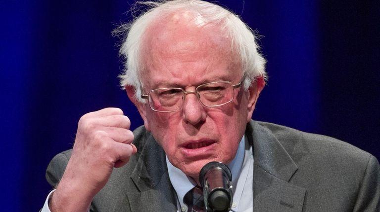 Sen. Bernie Sanders (I-Vt.) speaks about his new